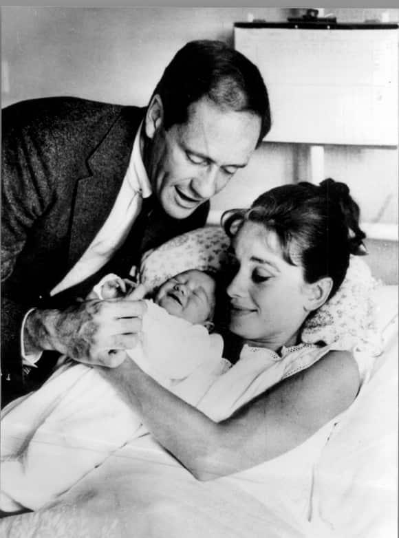 Audrey Hepburn with her son Sean Hepburn