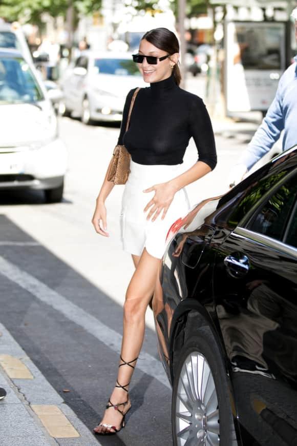 Bella Hadid stylisch in Paris unterwegs