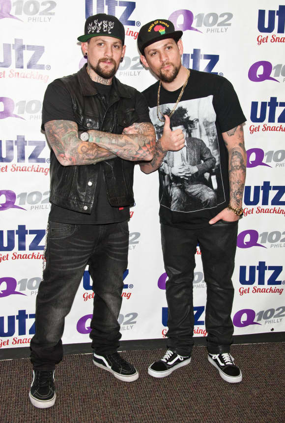 Twins Benji and Joel Madden Good Charlotte
