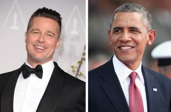 Brad Pitt and Barack Obama  Related