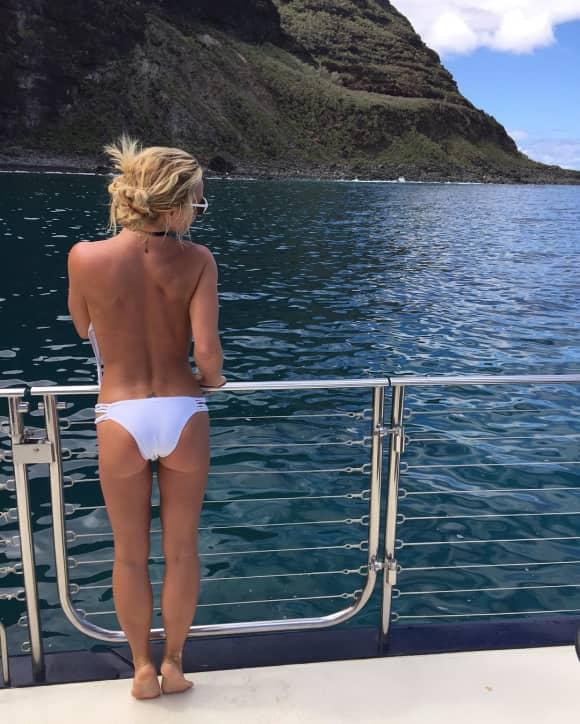 Britney Spears zeigt ihre tolle Rückenansicht