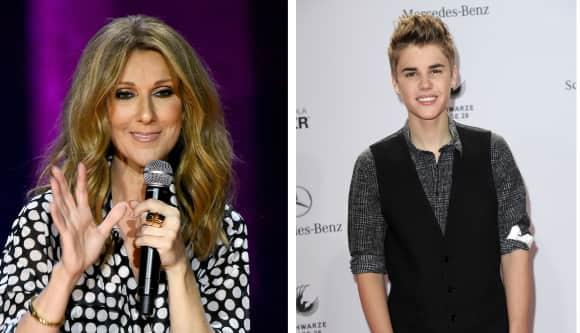 Céline Dion and Justin Bieber