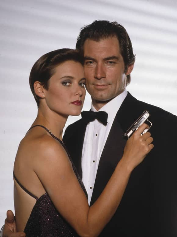 Carey Lowell and Timothy Dalton