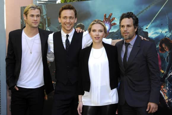 Chris Hemsworth, Tom Hiddleston, Scarlett Johansson and Mark Ruffalo