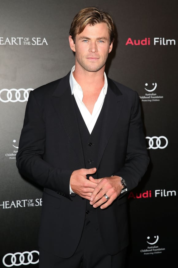 """Thor""-Star Chris Hemsworth bei einem Charity-Event in Sydney im November 2015"