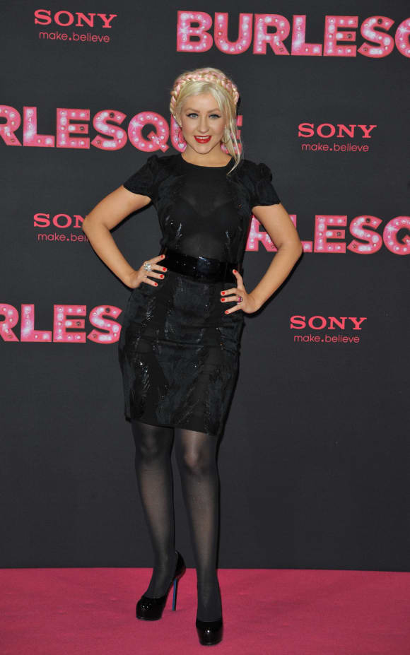 """Christina Aguilera at the premiere of """"Burlesque"""""""