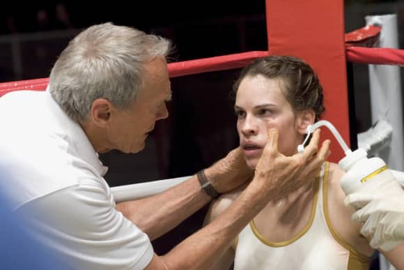 "Clint Eastwood and Hilary Swank in ""Million Dollar Baby"""