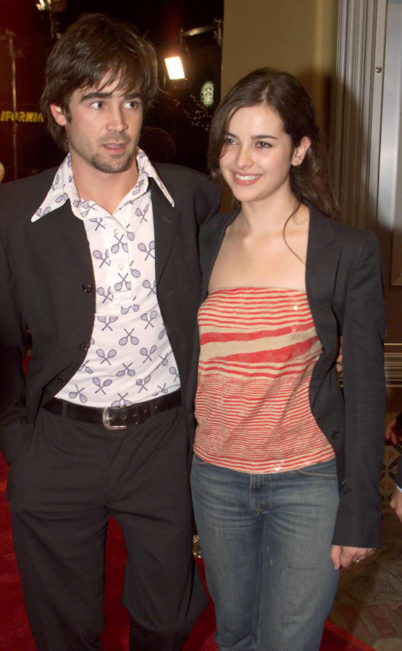 Colin Farrell and Amelia Warner in 2000