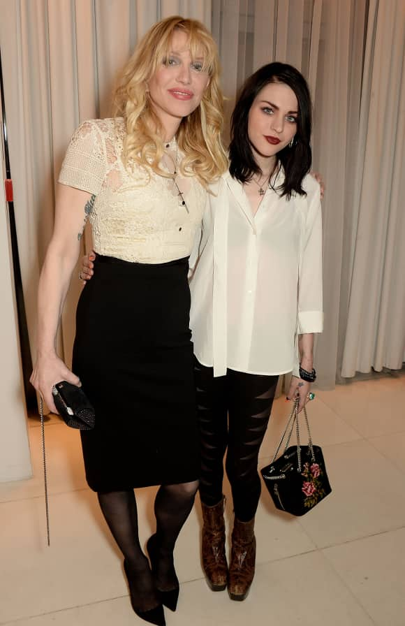 Courtney Love with her daughter Frances Bean Cobain