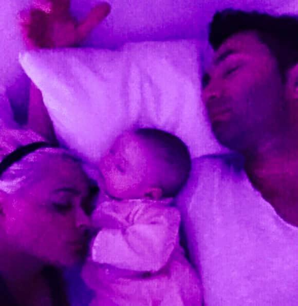 Daniela Katzenberger, Baby Sophia und Lucas Cordalis