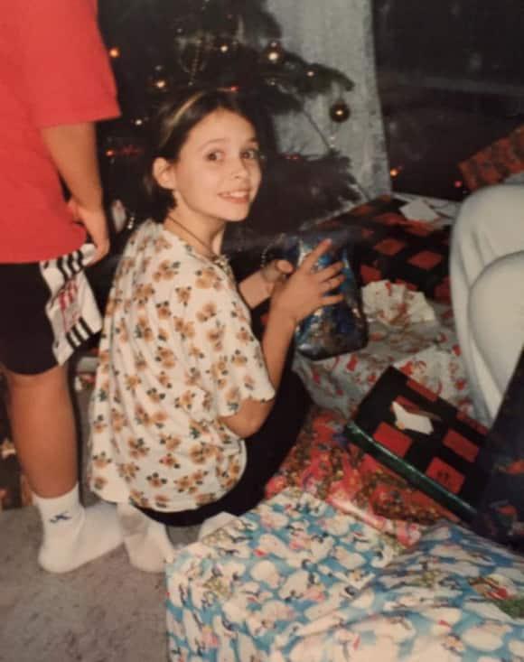 Daniela Katzenberger an Weihnachten 1997