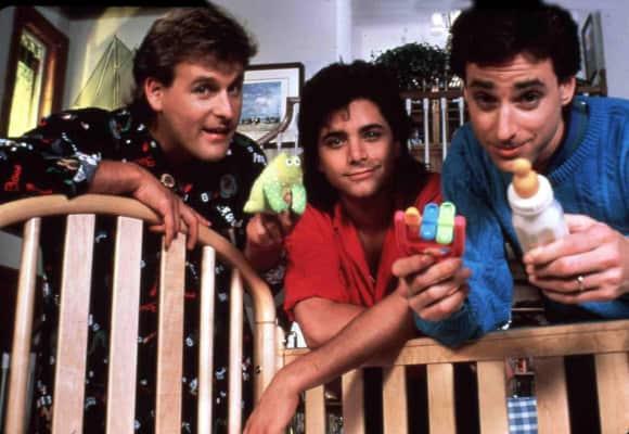 """Dave Culier, John Stamos und Bob Saget in """"Full House"""""""