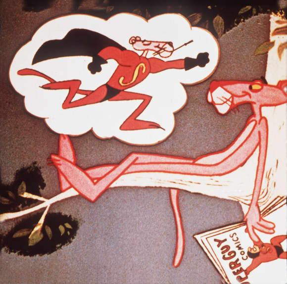 Der rosarote Panther ist eine der kultigsten Zeichentrickfiguren