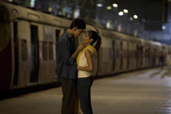 "Dev Patel and Freida Pinto in ""Slumdog Millionaire"""