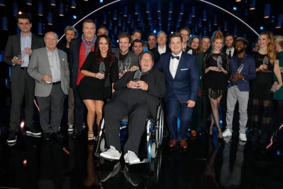 Die Gewinner des Deutschen Comedypreises. In der Mitte: Ehrenpreisträger Ottfried Fischer