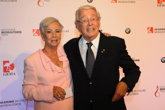 Dieter Thomas Heck und Ehefrau Ragnhild ZDF-Hitparade
