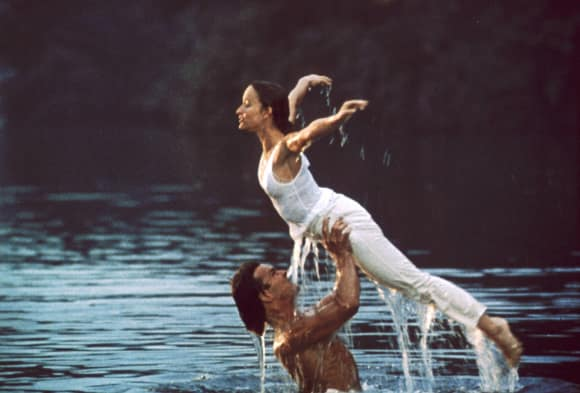 "Patrick Swayze Jennifer Grey in ""Dirty Dancing"""