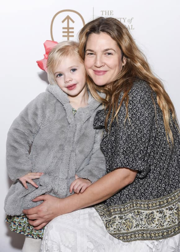 Drew Barrymore with daughter Frankie