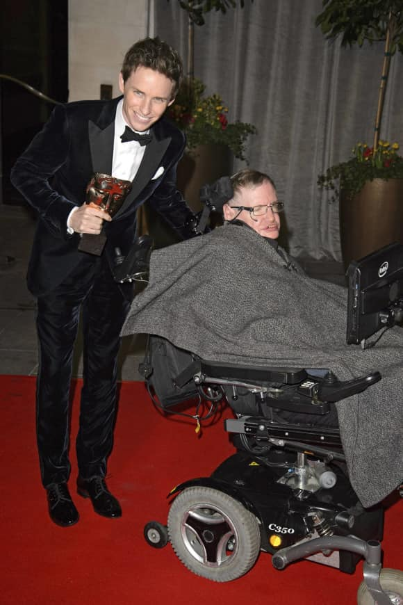 Eddie Redmayne and Stephen Hawking