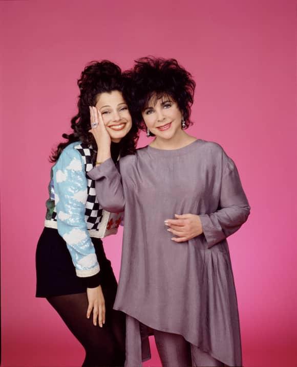 "Elisabeth Taylor and Fran Drescher in ""The Nanny"""