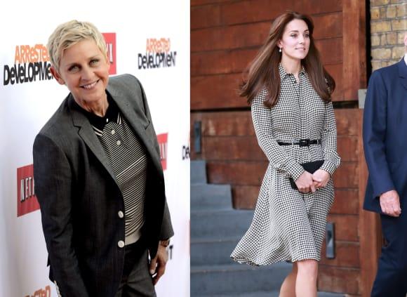Ellen DeGeneres und Kate Middleton