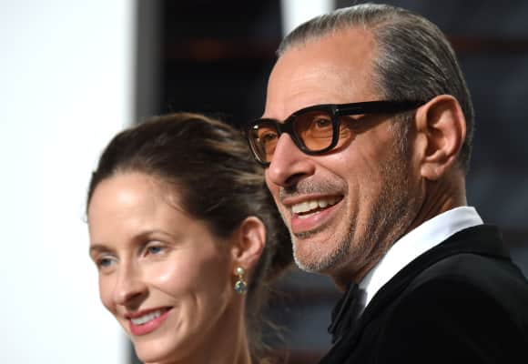 Emilie Livingston und Jeff Goldblum bei der Vanity Fair Oscar Party 2017