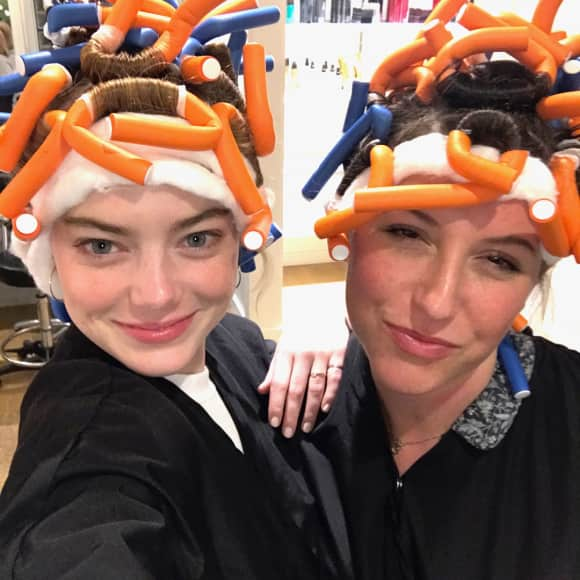 Emma Stone und Rachel Goodwin, Make-up Artist