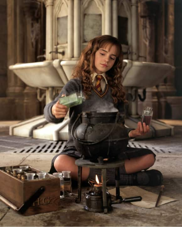 "Emma Watson playing the role of ""Hermine Granger"""