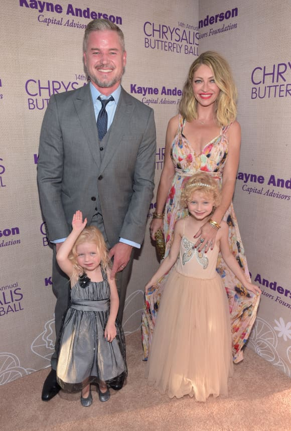 Eric Dane and Rebecca Gayheart with their two daughters