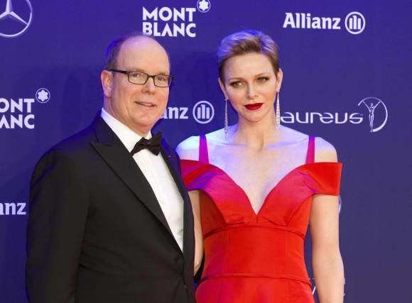 Albert II and Princess Charlene of Monaco Laureus Red Carpet