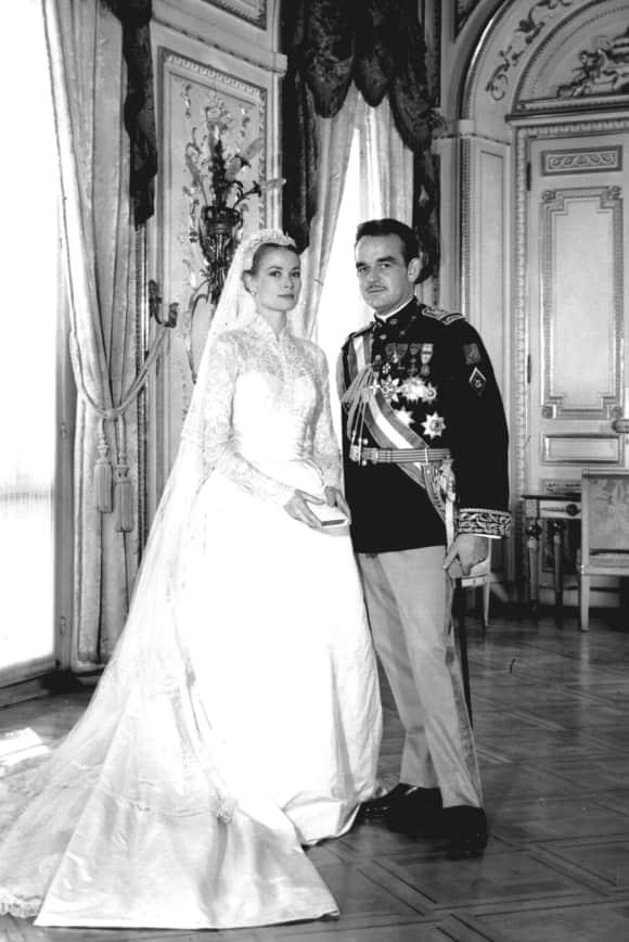 Rainier von Monaco mit seiner Frau Grace Kelly