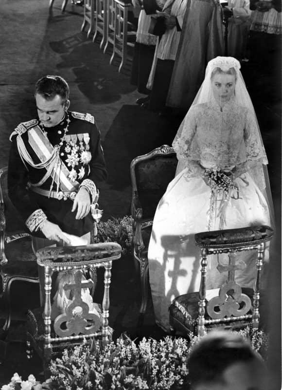 Fürst Rainier von Monaco und Grace Kelly