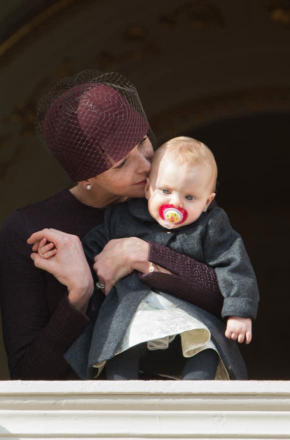 Fürstin Charlène von Monaco und Töchterchen Gabriella