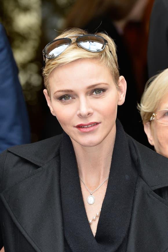 Princess Charlene of Monaco Short hair