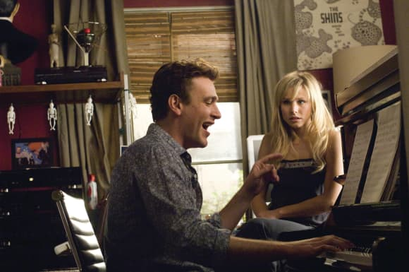 "Jason Segal and Kristen Bell in ""Forgetting Sarah Marshall"""