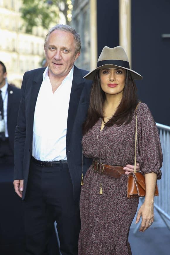 Salma Hayek with her husband Francois - Henri Pinault