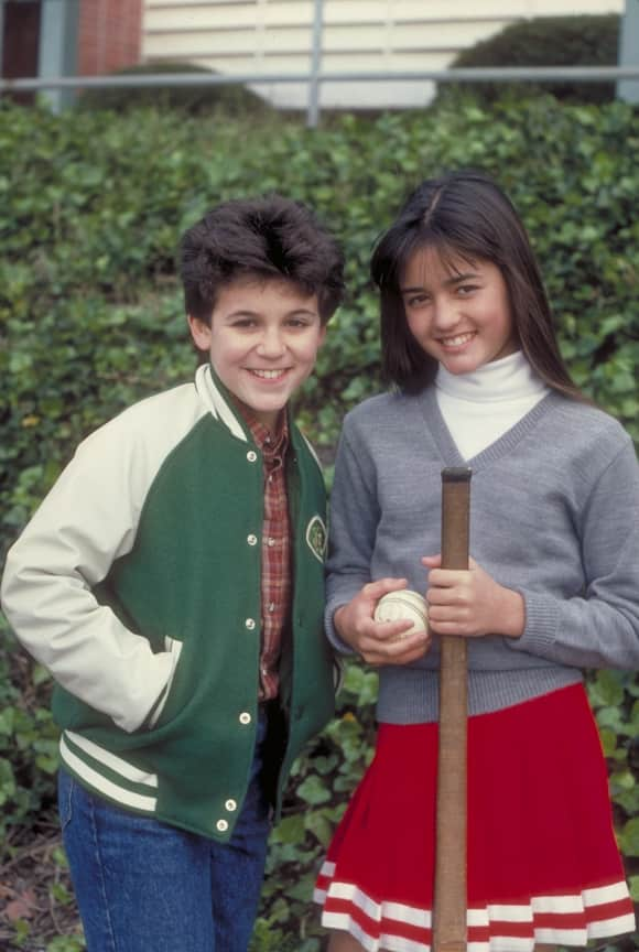 "Fred Savage and Danica McKellar in ""The Wonder Years"""