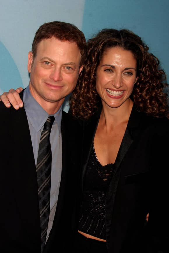 "Gary Sinise and Melina Kanakaredes starring in ""CSI: New York"""