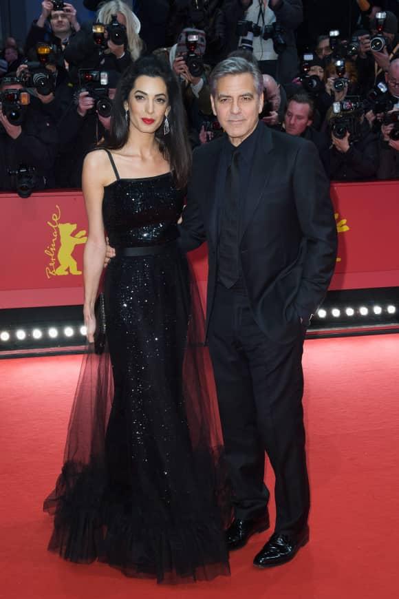 Georg und Amal Clooney auf der 66. Berlinal
