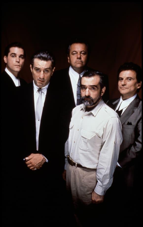 "Ray Liotta, Robert De Niro, Joey Pesci, Paul Sorvino und Martin Scorsese von ""Goodfellas"""