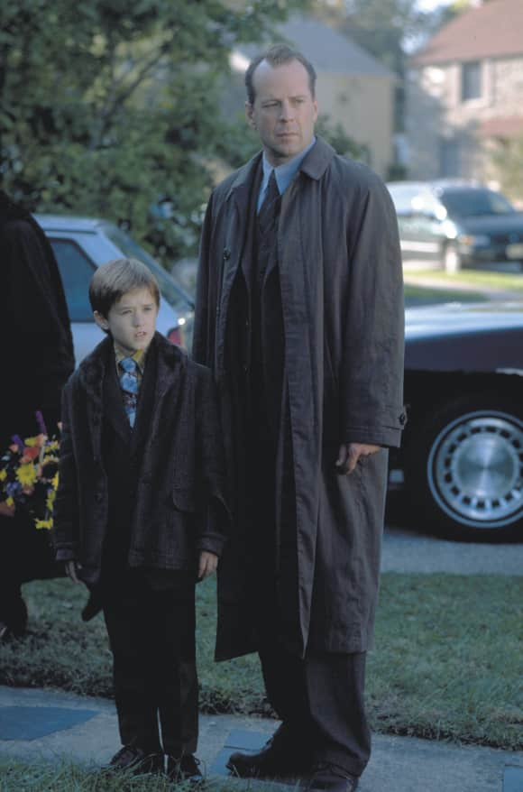 "Haley Joel Osment and Bruce Willis in ""The Sixth Sense"""