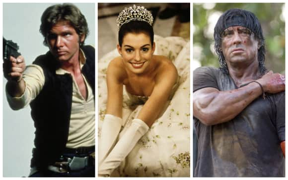 Die Hollywood-Stars Harrison Ford, Anne Hathaway und Sylvester Stallone