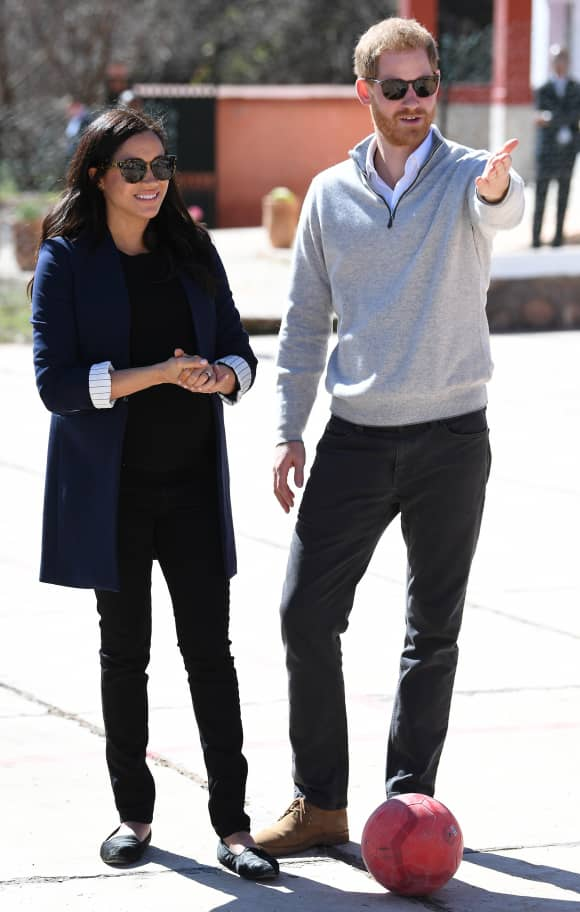 Harry and Meghan visiting a Moroccan secondary school
