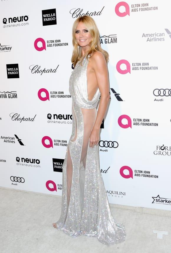 Heidi Klum auf der Oscar-Party von Elton John