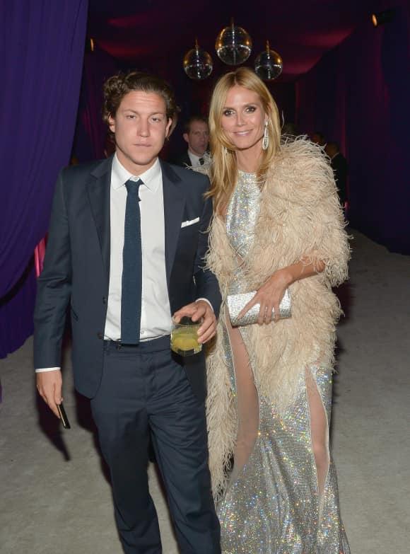 """Heidi Klum und ihr Freund Vito Schabel, Kunsthändler, auf der """"Elton John AIDS Foundation""""-Oscar-Party"""
