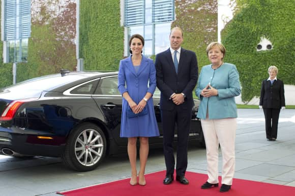 Duchess Catherine, Prince William and Angela Merkel