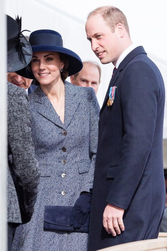 Herzogin Kate und Prinz William Kriegsmemorial London