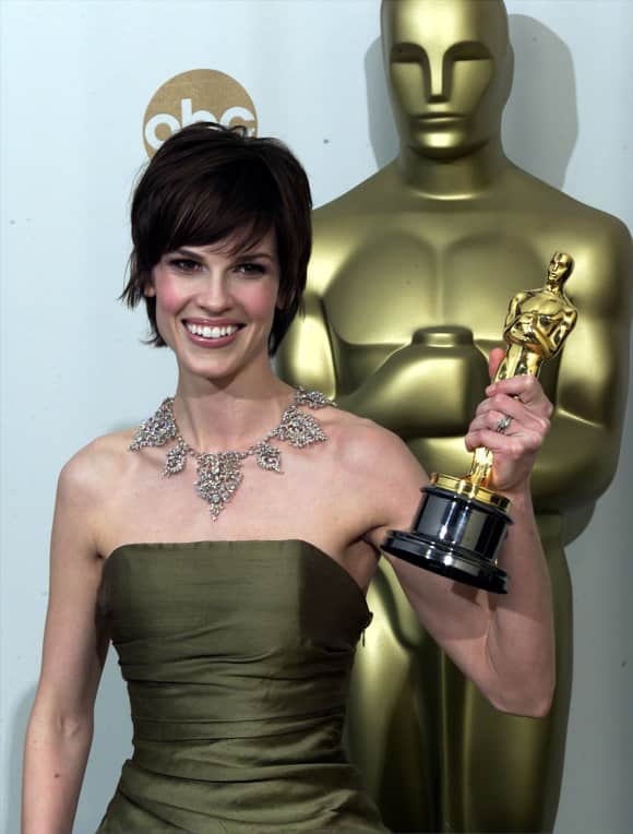 "Hilary Swank won an Oscar for ""Boys Don't Cry"" and ""Million Dollar Baby"" each"