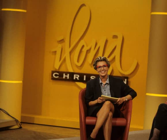 Ilona Christen moderierte eine Talkshow