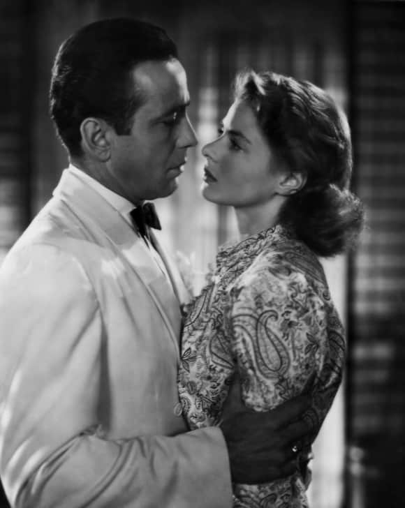 "Ingrid Bergman and Humphrey Bogart in ""Casablanca"""
